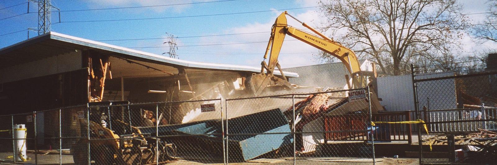 Old Building being demolished